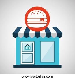 ecommerce store fast food burger icon