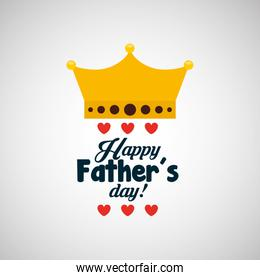 celebration happy fathers day lettering