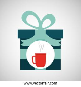 happy fathers day with gift cup coffee