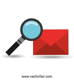 searching email message design graphic