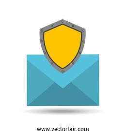 email concept protection shield icon