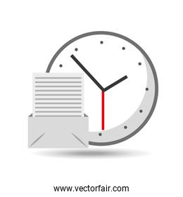 clock time email document icon