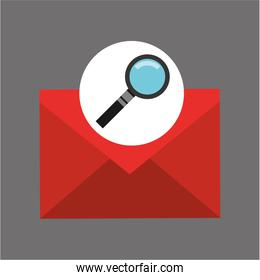 searching email message icon graphic
