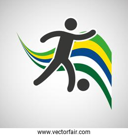 soccer sportsman flag background design