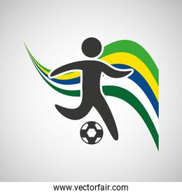 football sportsman flag background design