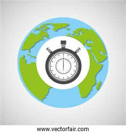 globe world delivery clock time