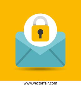 hand holds email security icon