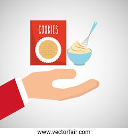 bakery cooking hand cookie mix
