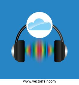 cloud music concept headphones frequency