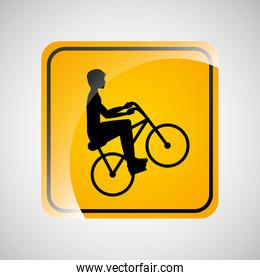 cyclist person sign sport extreme design