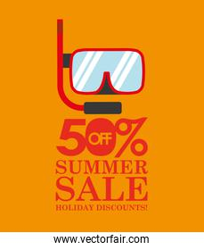 summer sale 50 discounts with snorkeling