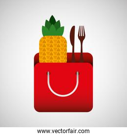 grocery bag pineapple nutrition fruit