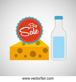big sale concept cheese milk