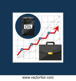 oil and petroleum industry increasing graph business