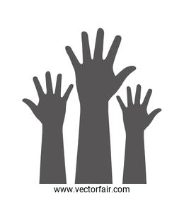 Hands up icon design