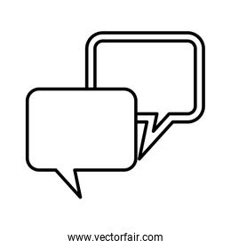 speech bubbles lineal vector design