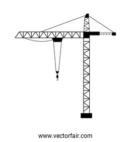 tower crane isolated flat  design