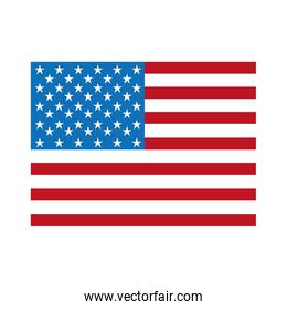 united states flag isolated icon design