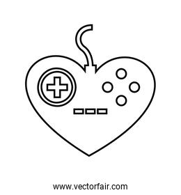 Control video game isolated icon design