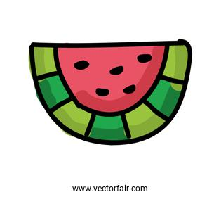 fresh watermelon isolated icon design