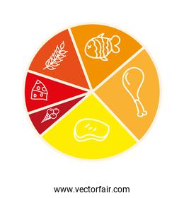 nutrition infographic isolated icon design