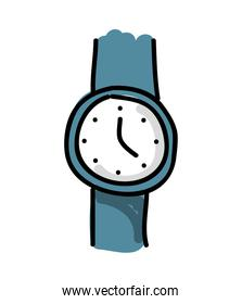 hand watch  drawing isolated icon design