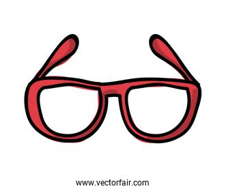 glasses  drawing isolated icon design
