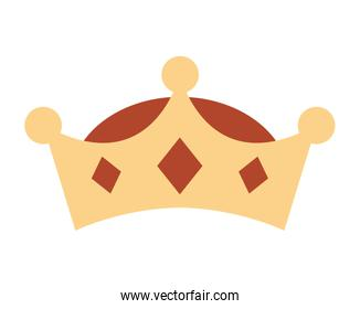 crown king isolated icon design