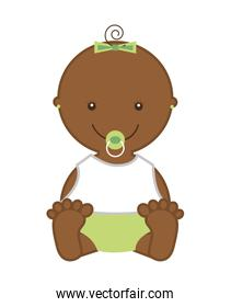 little baby  isolated icon design