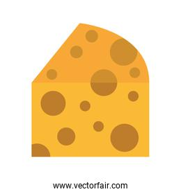 cheese piece isolated icon design