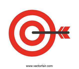 target with arrow isolated icon design