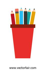 pencil holders isolated icon design
