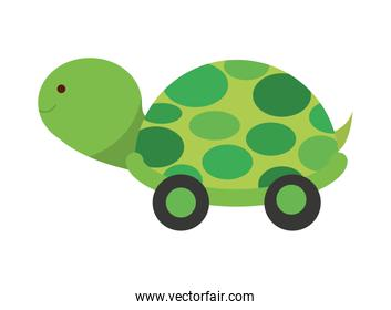 Baby toy turtle isolated icon design