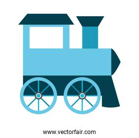 Baby toy train isolated icon design