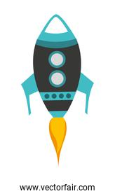 rocket launch isolated icon design
