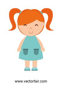 little girl isolated icon design