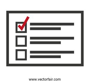 electoral Card isolated icon design