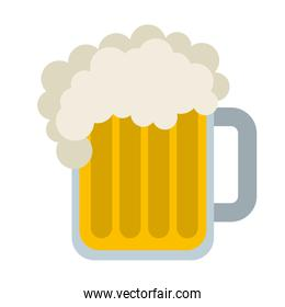 beer glass isolated icon design