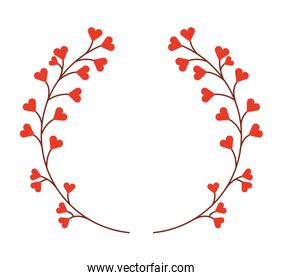 floral wreath isolated icon design