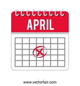 calendar timestamped tax isolated icon design