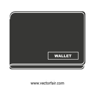 wallet money isolated icon design