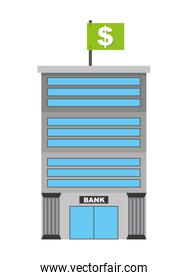 bank isolated icon design