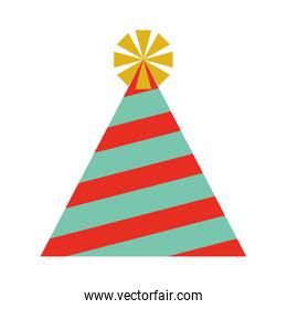 party hat  isolated icon design