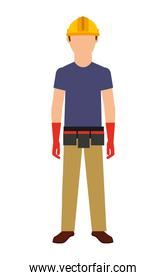 electrical technician isolated icon design