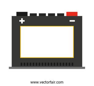 battery car  isolated icon design