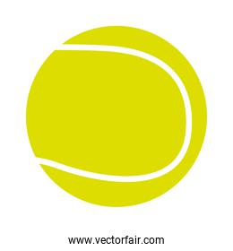 tennis ball isolated icon design