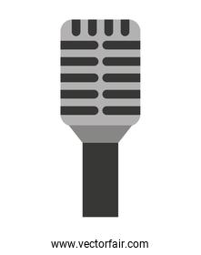 microphone stand isolated icon design