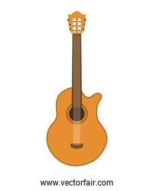 acoustic guitar isolated icon design