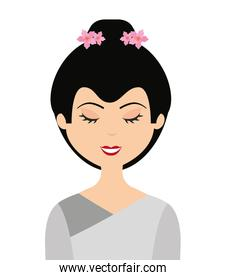 japanese woman isolated icon design