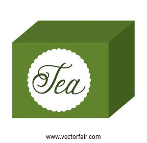 tea box isolated icon design